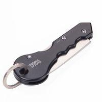 TROIKA Paketmesser mit Schlüsselring HOOK schwarz/silber