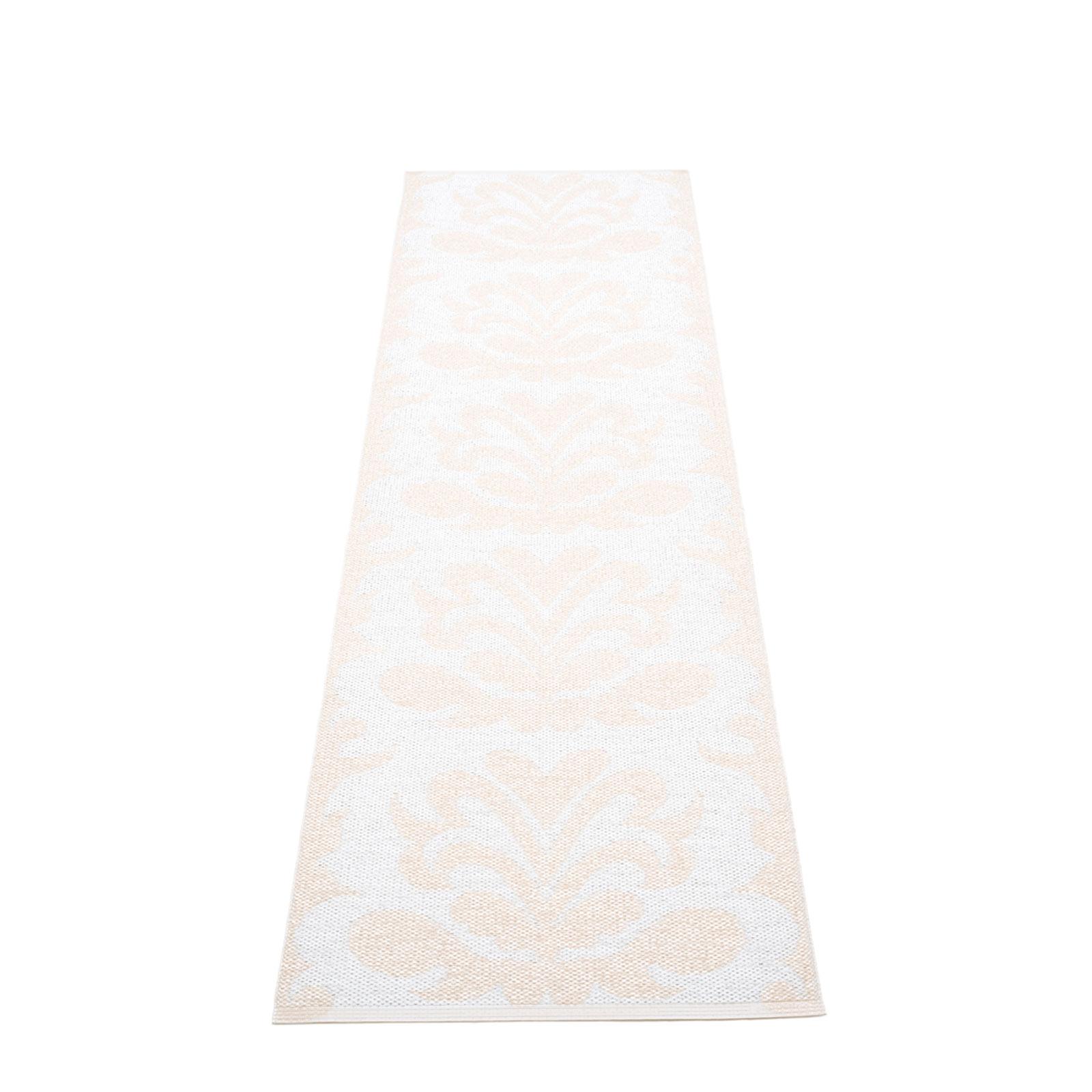 pappelina Kunststoff Teppich SIRI White Metallic/White verschiedene Größen