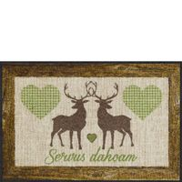 Salonloewe VICHY DEERS GREEN Fußmatte Wohnmatte 50 x 75 cm