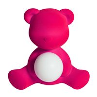 Qeeboo Tischleuchte Samt Teddy Girl LED lamp FUXIA