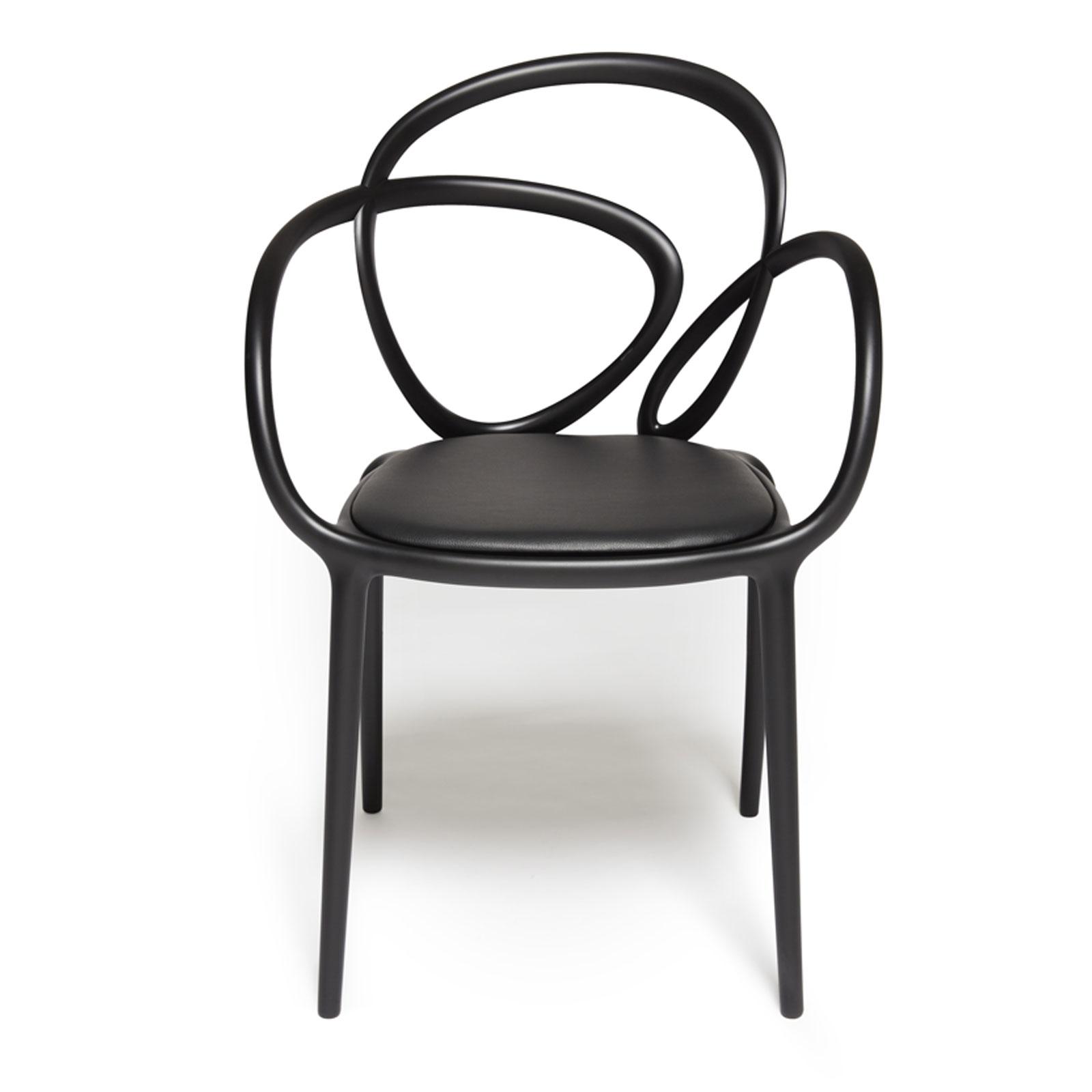 Qeeboo Loop-CHAIR Stuhl mit Kissen in verschiedenen Farben
