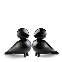 Kay Bojesen Holzfigur Vogelpaar Unzertrennliche Lovebirds 2-teilig schwarz