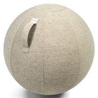 VLUV STOV Sitzball mit Polyester Bezug Kiesel in zwei Größen