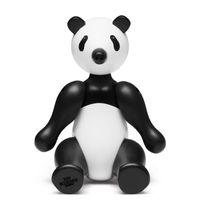 Kay Bojesen Holzfigur Panda mittel schwarz/weiss