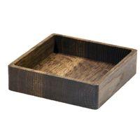 LindDNA Wood Box Square S Eiche geräuchert Holzschale 11 x 11 x 3 cm