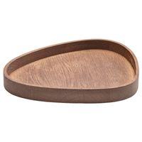 LindDNA Wood Box Curve L Eiche geräuchert Holzschale 23 x 26 x 3 cm