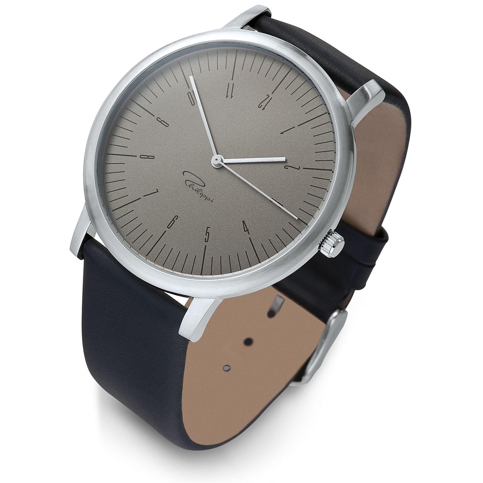 Armbanduhr Uhr MG1 Leder Philippi TEMPUS
