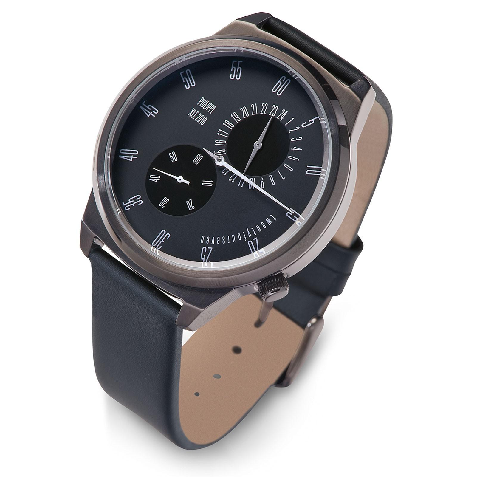 Armbanduhr Uhr One Hand O1 Leder Philippi TEMPUS