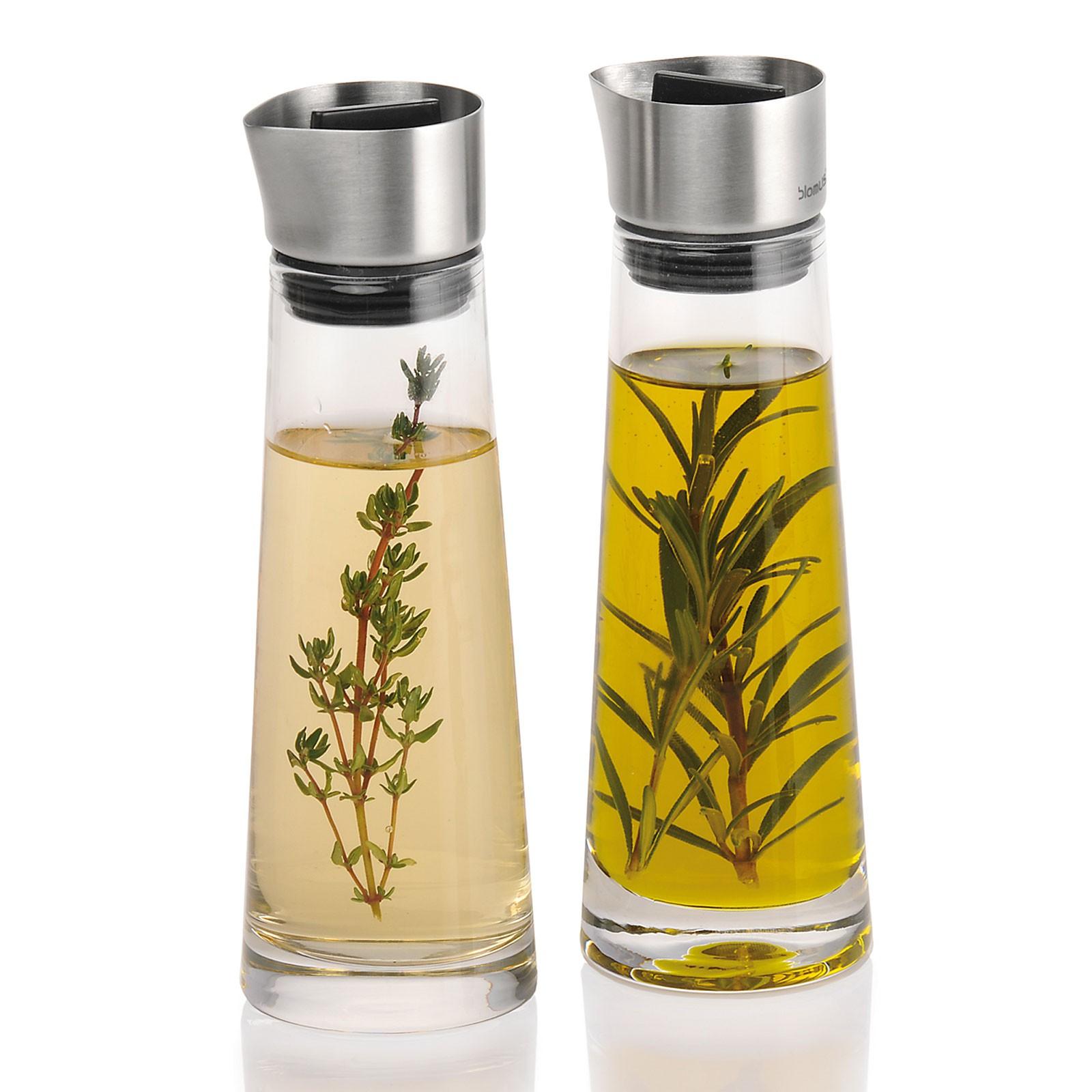 blomus Alinjo Essig + Öl Glas Set Edelstahl