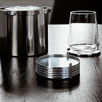 stelton Arne Jacobsen AJ Glasuntersetzer 6-teilig Edelstahl CYLINDA-LINE