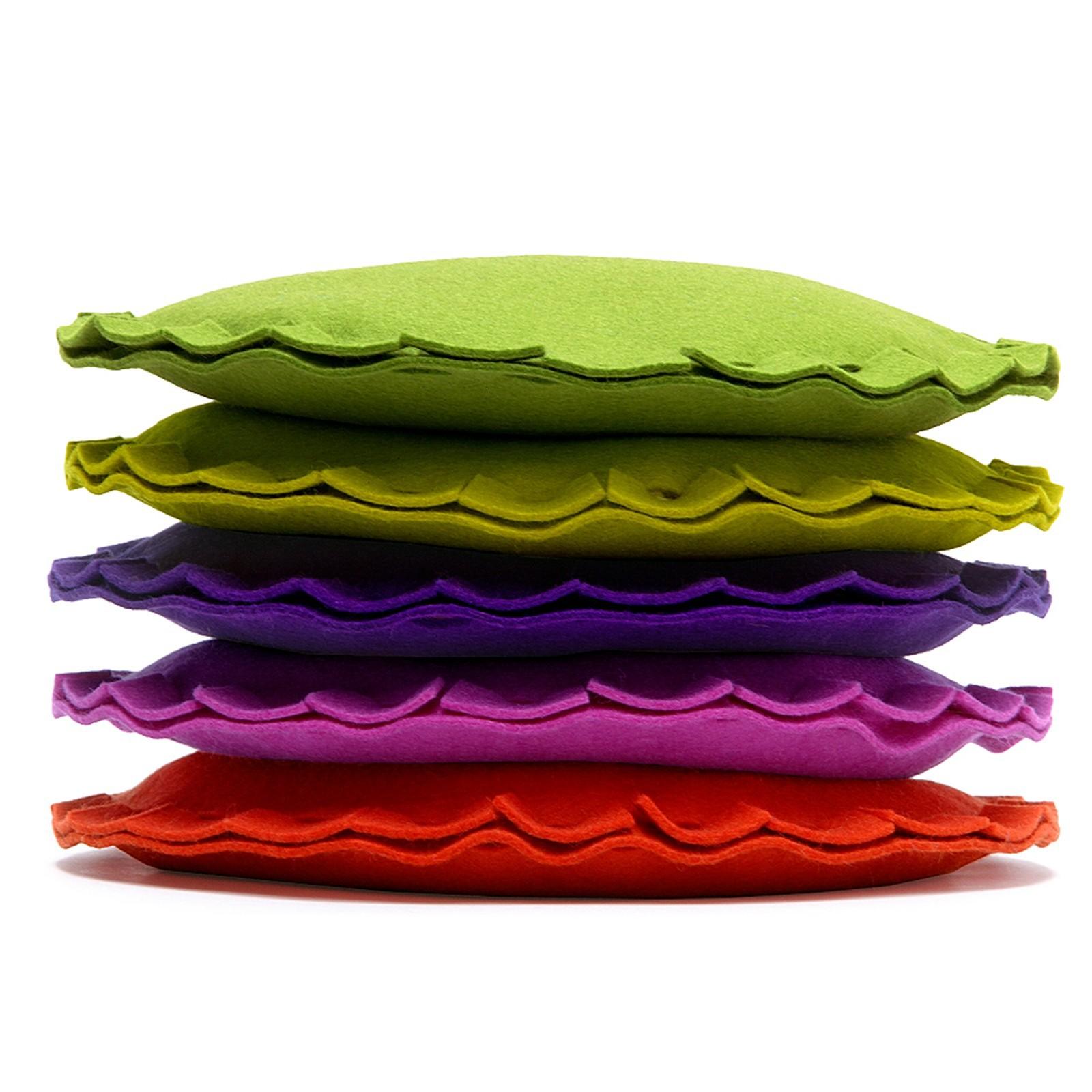 Dekokissen Kissen rund Filz viele Farben Hey Sign PAI