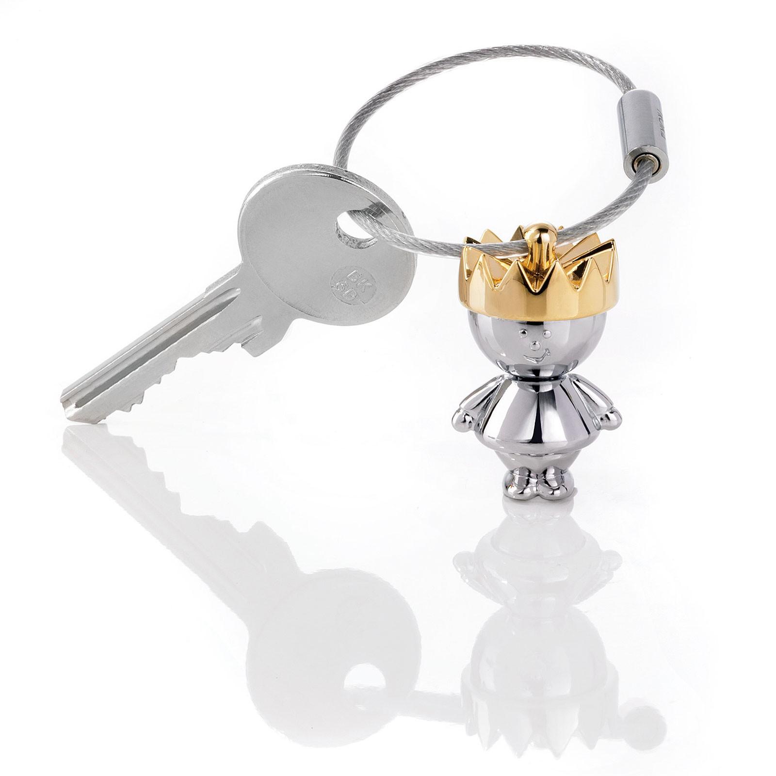 TROIKA Schlüsselanhänger LITTLE KING König mit goldener Krone