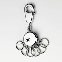 TROIKA Schlüsselhalter SOCCER mit Karabinerhaken + 6 Ringe