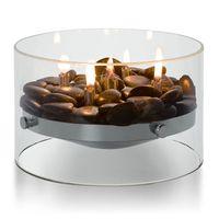 Tischkamin Glas + Steine Ø 23 cm Philippi FIRE