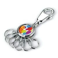 Schlüsselhalter mit Dekor Karabinerhaken + 6 Ringe Troika COLOUR BUBBLES