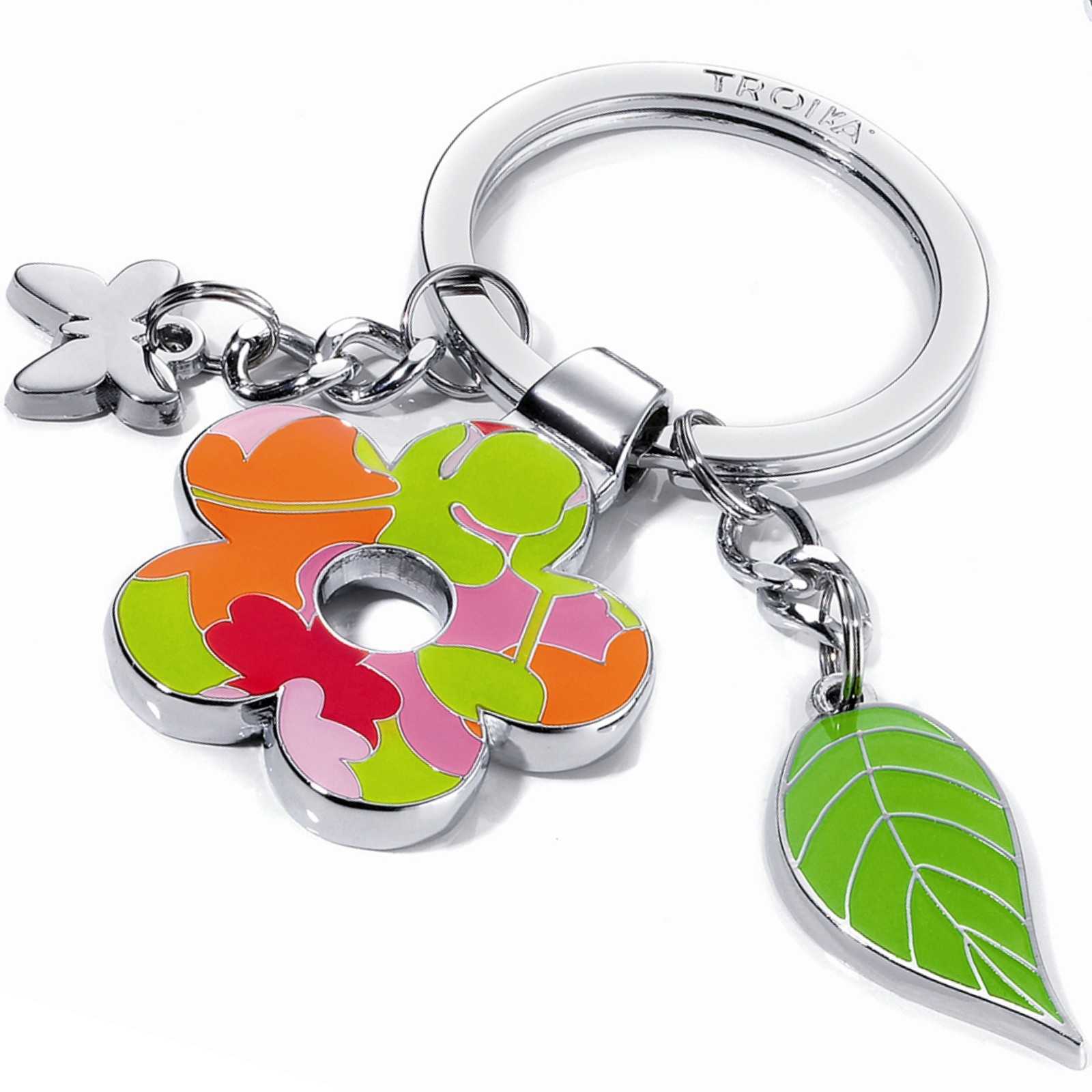 Schlüsselanhänger Blume und Blatt Troika FLOWER POWER