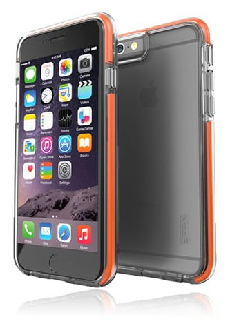 Gear4 D3O IceBox Shock Cover Grey-Orange, Piccadilly für iPhone 6/6s, Blister