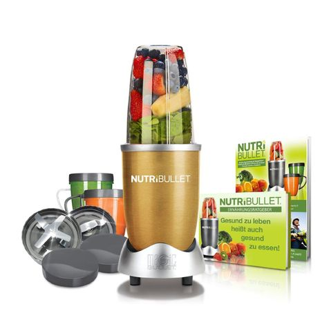 NutriBullet Extraktor Basis-Set (600W, 12-teilig) Gold