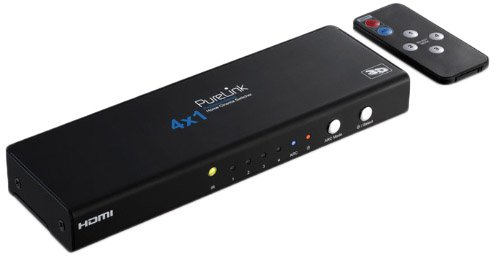 PureLink ProSpeed Serie Home Cinema Video-Switch 4x1 + Audio [4x HDMI In, 1x HDMI Out, 1x Audio]