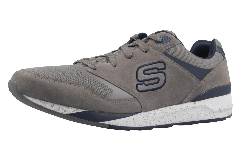 Skechers Sneaker in Übergrößen Grau 52350GYNV große Herrenschuhe
