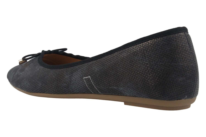 FITTERS FOOTWEAR - Rosie - Damen Ballerinas - Metallic Schwarz Schuhe in Übergrößen – Bild 2