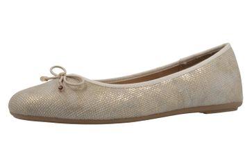 Fitters Footwear Ballerinas in Übergrößen Gold 0 große Damenschuhe – Bild 1