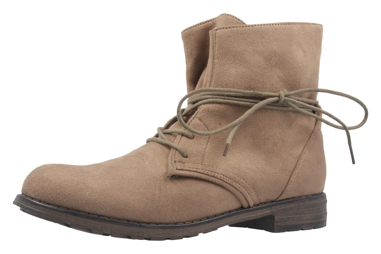 Fitters Footwear Boots in Übergrößen Beige NEW-19860 große Damenschuhe – Bild 1
