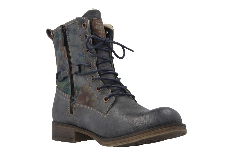 MUSTANG - Damen Boots - Blau/Grau Schuhe in Übergrößen – Bild 5