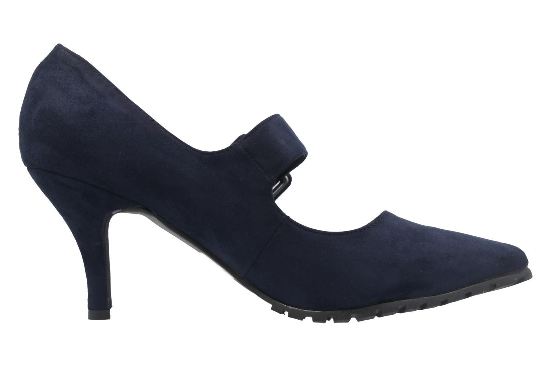 ANDRES MACHADO - Damen Spangen-Pumps - Blau Schuhe in Übergrößen – Bild 4