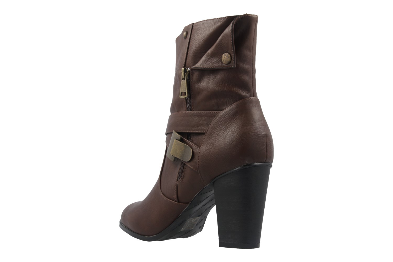 ANDRES MACHADO - Damen Stiefeletten - Braun Schuhe in Übergrößen – Bild 2