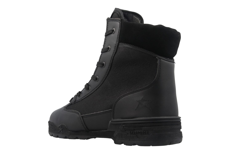 Starforce Stiefel in Übergrößen Schwarz 3626-0001 große Herrenschuhe – Bild 2