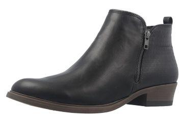 Fitters Footwear Boots in Übergrößen Schwarz 2.466002 Black PU große Damenschuhe – Bild 1