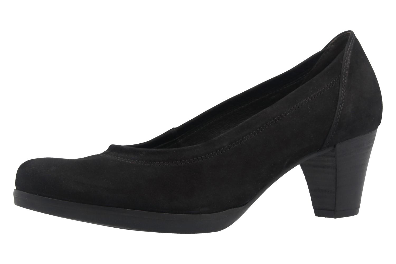 Gabor Comfort Fashion Pumps in Übergrößen Schwarz 02.080.47 große Damenschuhe – Bild 1