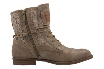Mustang Shoes Boots in Übergrößen Beige 1157-527-318 große Damenschuhe – Bild 4