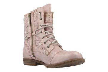 MUSTANG - Damen Schnür-Booty - Rosa Schuhe in Übergrößen – Bild 5