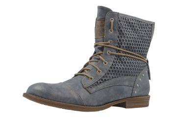 Mustang Shoes Boots in Übergrößen Blau 1157-542-875 große Damenschuhe – Bild 1