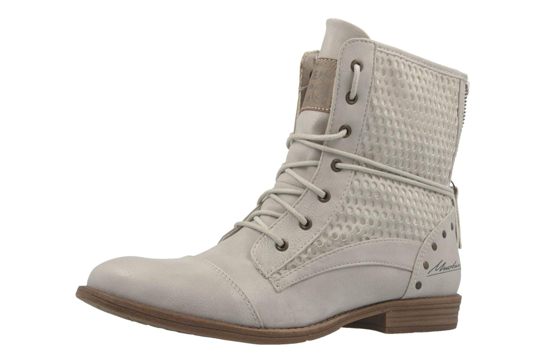 Mustang Shoes Boots in Übergrößen Elfenbein 1157-542-203 große Damenschuhe – Bild 1