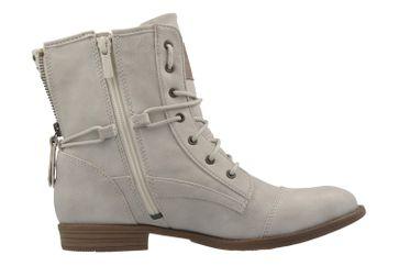 MUSTANG - Damen Schnür-Booty - Hellgrau Schuhe in Übergrößen – Bild 4