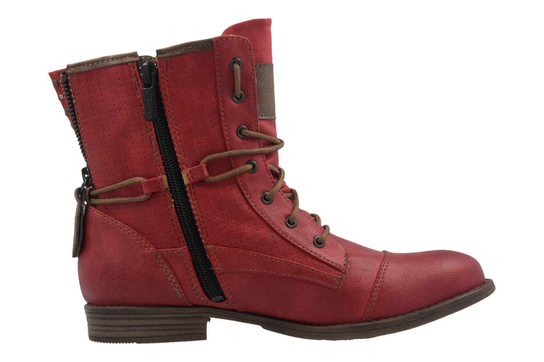 Mustang Shoes Boots in Übergrößen Rot 1157-503-5 große Damenschuhe – Bild 4