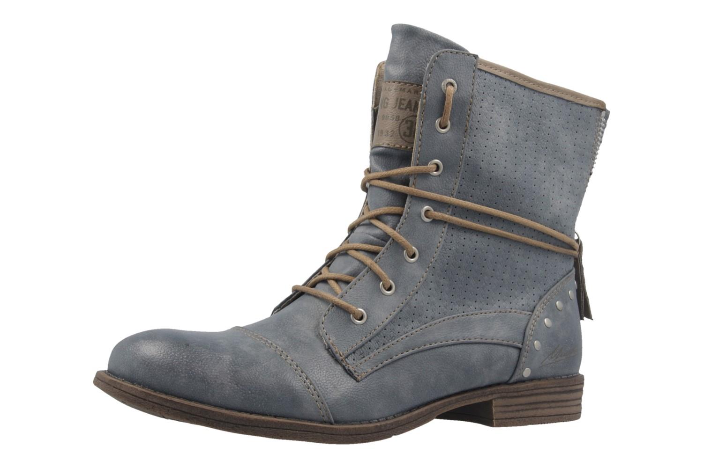 mustang damen boots blau schuhe in bergr en. Black Bedroom Furniture Sets. Home Design Ideas