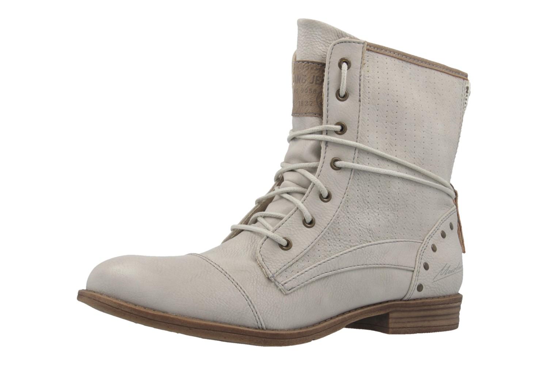 mustang damen boots hellgrau schuhe in bergr en. Black Bedroom Furniture Sets. Home Design Ideas