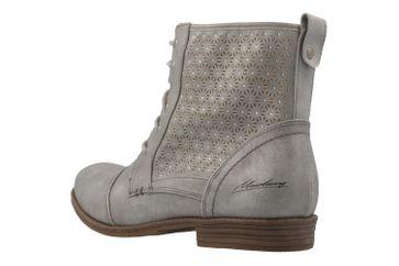 MUSTANG - Damen Schnür-Booty - Silber Metallic Schuhe in Übergrößen – Bild 2