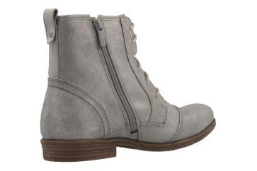 MUSTANG - Damen Schnür-Booty - Silber Metallic Schuhe in Übergrößen – Bild 3