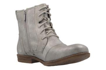 MUSTANG - Damen Schnür-Booty - Silber Metallic Schuhe in Übergrößen – Bild 5