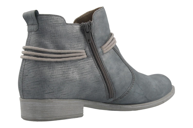REMONTE - Damen Booties - Blau Metallic Schuhe in Übergrößen – Bild 3