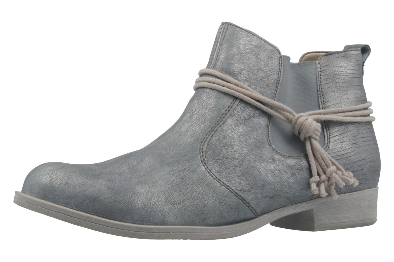 REMONTE - Damen Booties - Blau Metallic Schuhe in Übergrößen – Bild 1