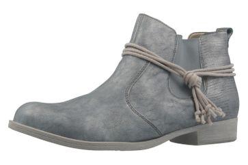 REMONTE - Damen Booties - Blau Metallic Schuhe in Übergrößen