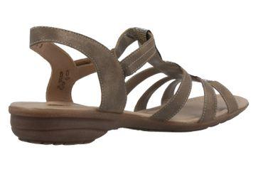 Remonte Sandalen in Übergrößen Gold R3637-90 große Damenschuhe – Bild 3