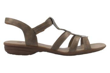 Remonte Sandalen in Übergrößen Gold R3637-90 große Damenschuhe – Bild 4