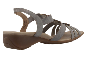 Remonte Sandalen in Übergrößen Grau R5272-40 große Damenschuhe – Bild 3